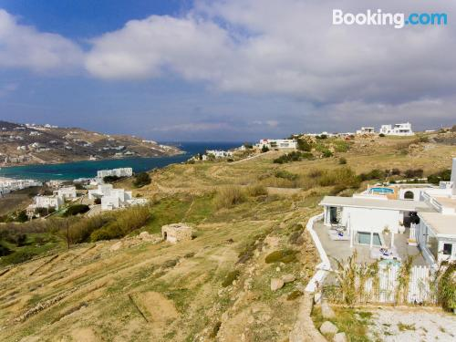 Great location with air in Ornos and terrace