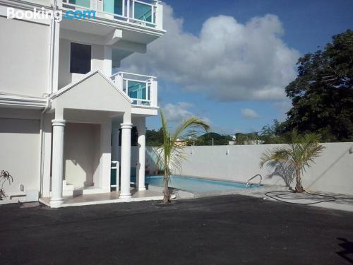 Apartment in Calodyne with pool.