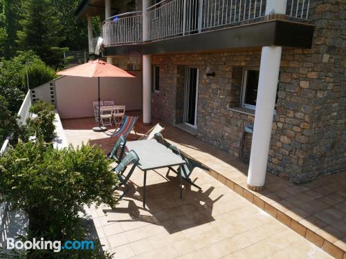 Terrace and wifi home in Encamp. Dog friendly
