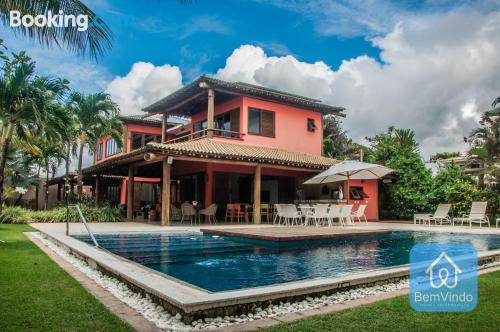 Massive home with swimming pool ideal for families.