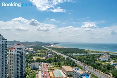 Apartamento con conexión a internet en Weihai.