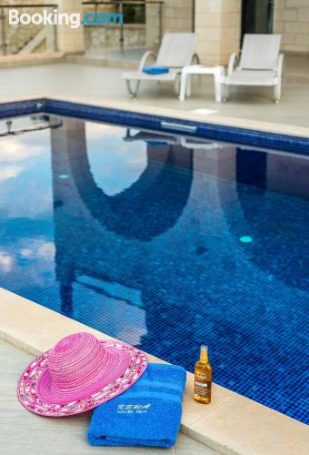 Pool and wifi place in Almirida. Ideal for six or more