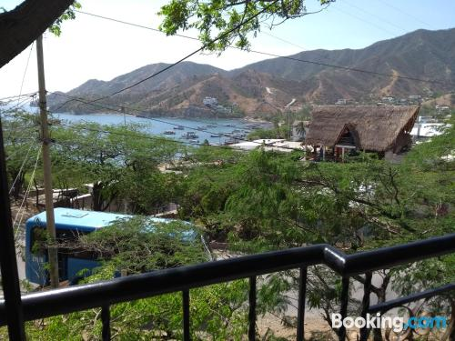 Place with terrace in Taganga.