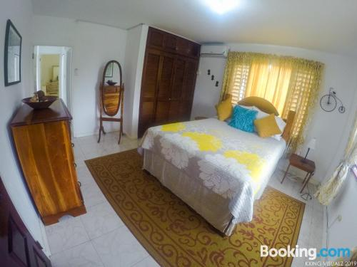 2 rooms place in Montego Bay with internet.