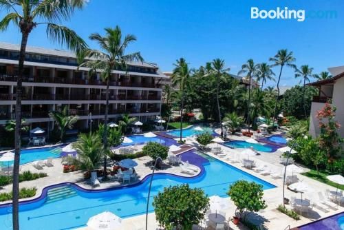 Experience in Porto de Galinhas with terrace and pool.