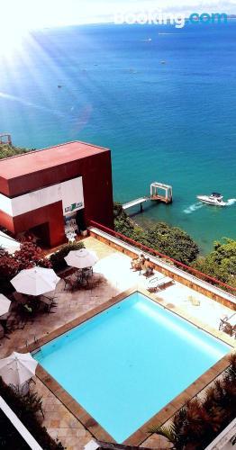 Apartamento de 40m2 en Salvador con piscina.