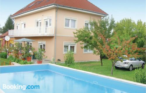 Home with swimming pool and air-con