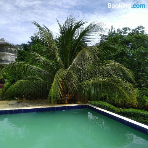 Port Antonio home with terrace and pool.