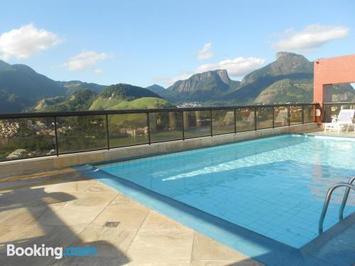 2 rooms home with terrace and pool.