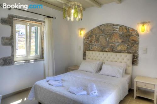 Aegiali apartment with terrace.