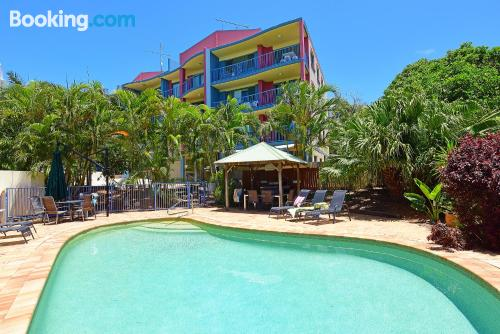 2 bedroom home in Caloundra with pool