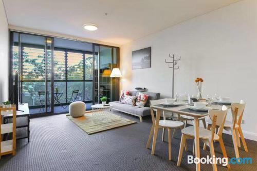 Apartamento con aire acondicionado ideal para familias.