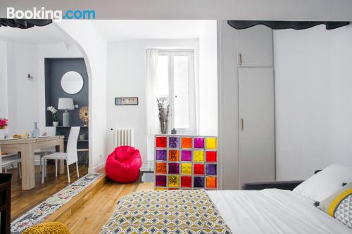 Appartement met 2 kamers in Parijs. Ideaal voor gezinnen.