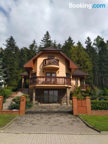 Apartment for two people in Kudowa-Zdrój with terrace and internet.