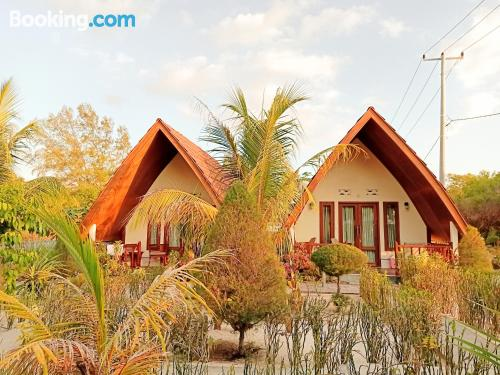 Home for 2 people in Gili Meno with internet and terrace