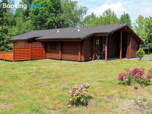 Home with terrace. Enjoy your pool in Fårvang!