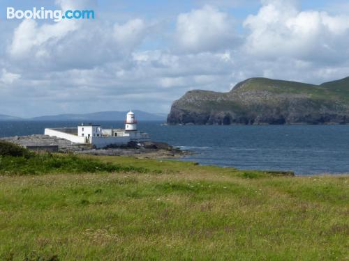 Stay in Valentia Island with internet and terrace.