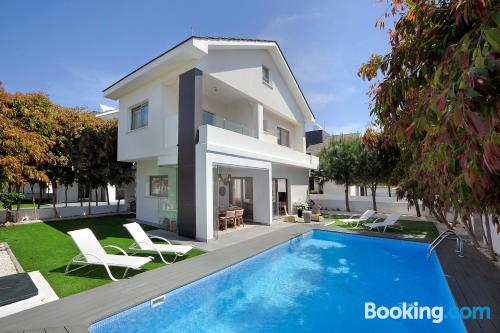 Cot available place with terrace and swimming pool.