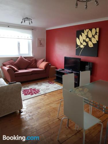 Apartment in Cumbernauld good choice for 6 or more.