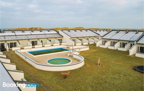 Two bedrooms home with swimming pool.