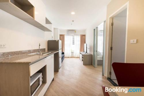 One bedroom apartment in Bangkok. Be cool, there\s air-con!