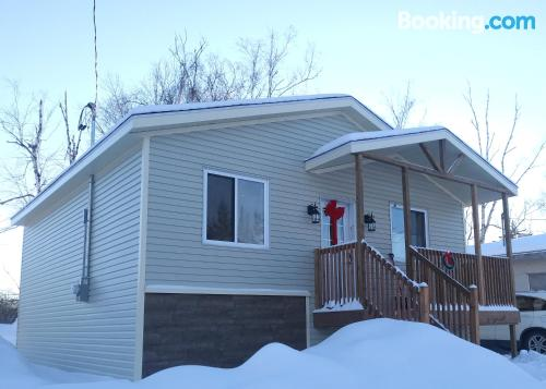 Two bedroom home in Saint-Paulin with heat