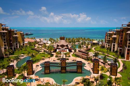 Apartamento de 132m2 en Cancún con terraza y wifi