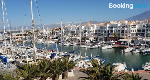 Spacious apartment in superb location. Almerimar from your window!