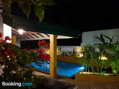Three bedroom place in Hikkaduwa. Convenient for families