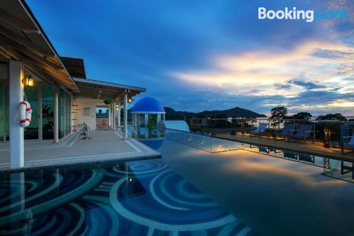 Stay cool: air-con home in Bang Sare with swimming pool