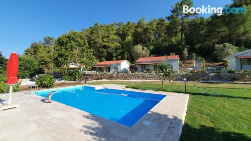 In Mugla with terrace and pool.