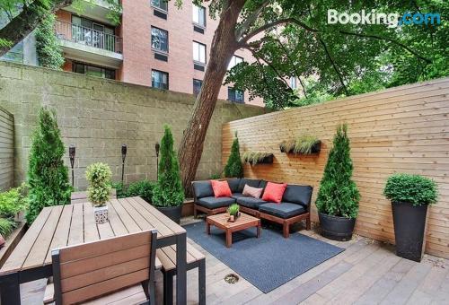 Apartamento con vistas en Nueva York.