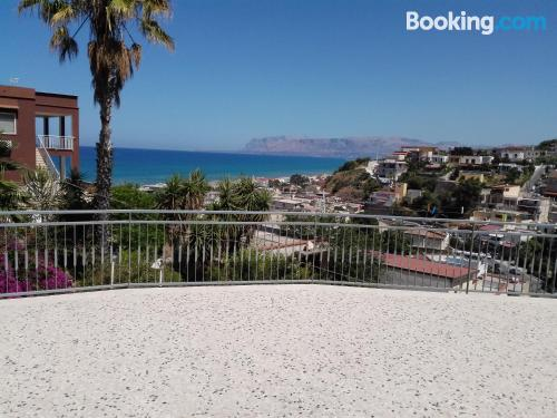 Place with terrace. Alcamo Marina at your feet!