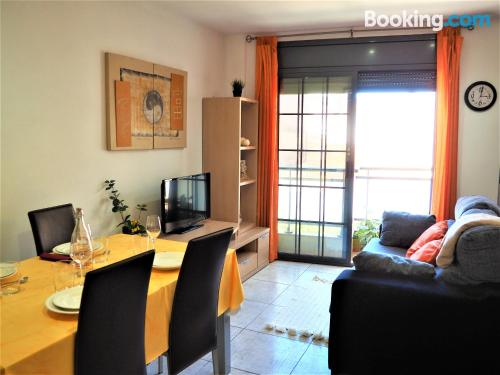 Home in L'Aldea with terrace and wifi.