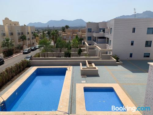 Apartment with terrace ideal for 6 or more.
