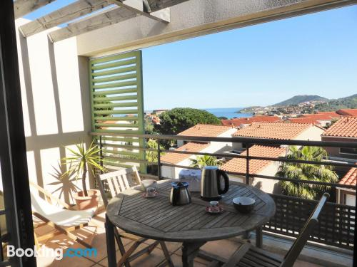 Collioure from a great location. Enjoy your terrace