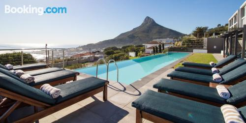 Swimming pool and internet place in Cape Town. Great!