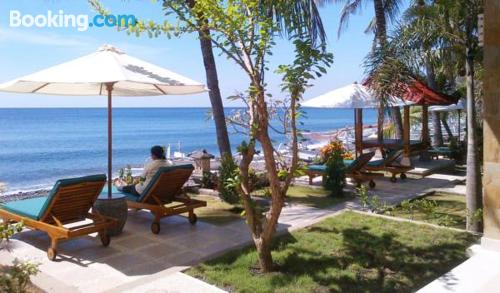 Pool and wifi home in Amed with terrace
