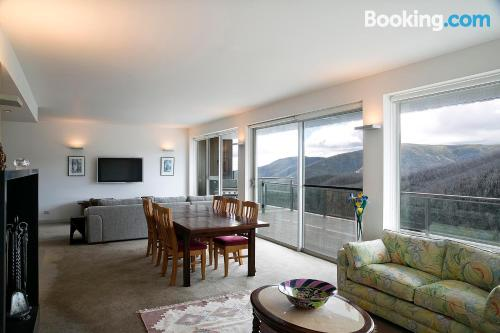 Stay in Falls Creek. Convenient for groups