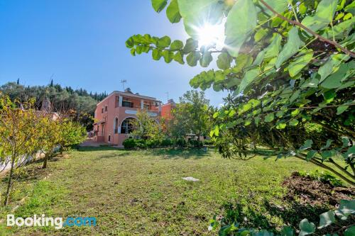 In Agios Georgios Pagon. Family friendly home!
