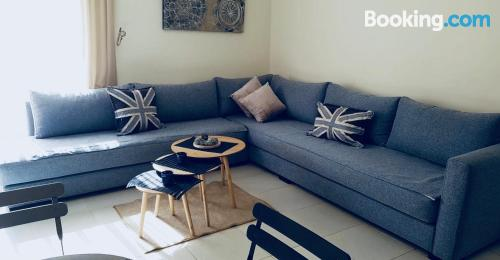 Terrace and wifi apartment in Bouznika with pool.