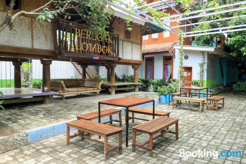 Stay cool: air place in Mataram for two people