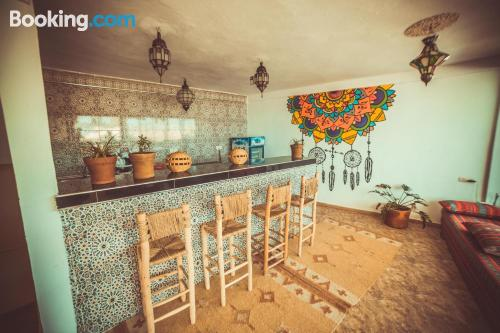Incredible location in Taghazout with internet and terrace.