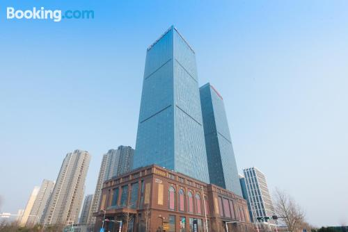 Place in Qingdao with wifi.