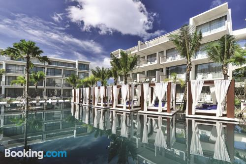 Huge apartment in Bang Tao Beach with terrace and pool.