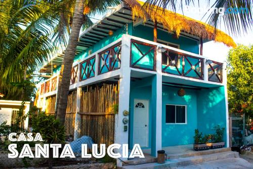 1 bedroom apartment place in Holbox Island with terrace and internet.