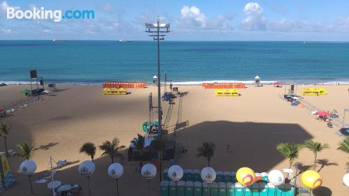 Stay cool: air-con home in Fortaleza with terrace