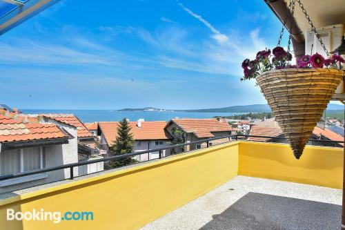 Home for two people in Burgas City with internet and terrace.