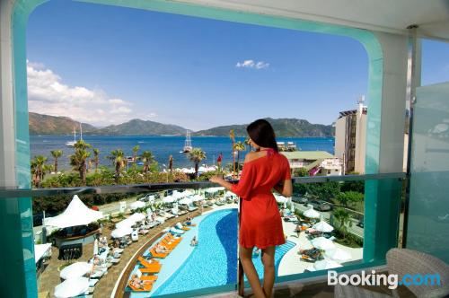 In Marmaris with internet and terrace