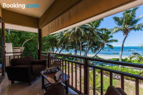 Apartment for 2 people in Grand'Anse Praslin with internet and terrace